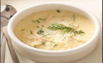 Κοτόσουπα με άρωμα μαστίχας