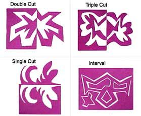 Elementary Art Lesson: teach positive and negative space cutting samples