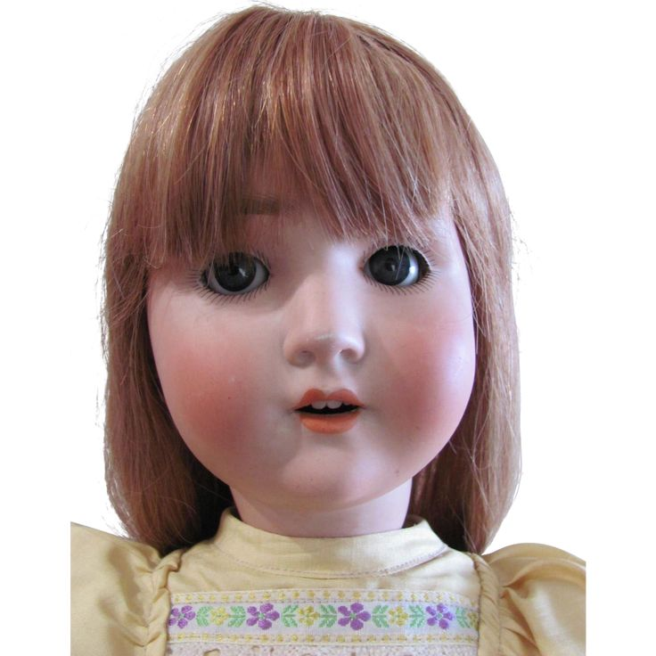 24' Schoenau Hoffmeister Antique German Bisque Head Doll, Beautiful Redhead, Circa 1909, Redressed and Display Ready