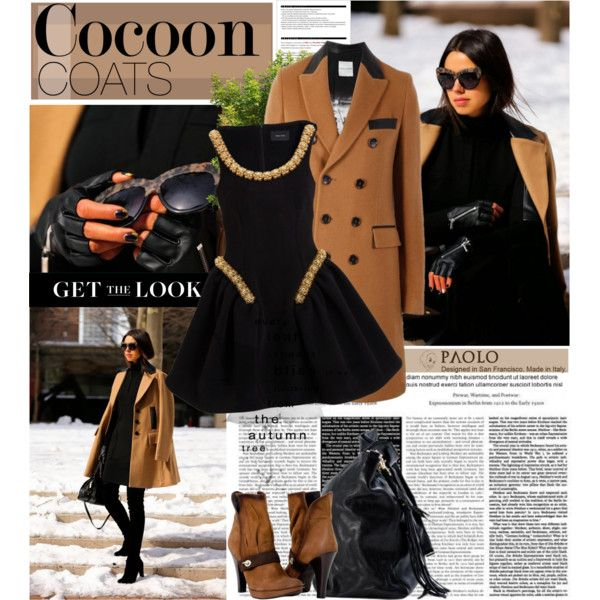 """""""Cocoon Coats and Paolo Shoes"""" by spenderellastyle on Polyvore"""
