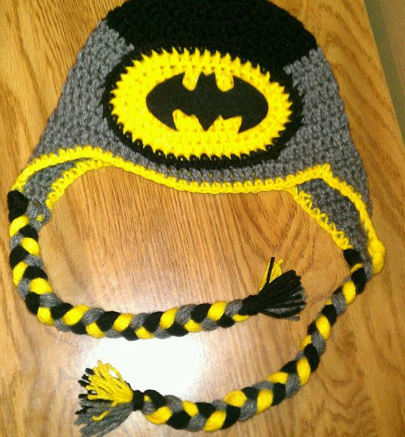 Batman inspired Crochet hat by CrochetByBrito on Etsy, $22.00