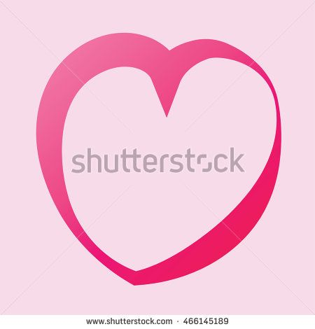 Heart pink ring icon vector. Vector Illustration. Heart icon. Love symbol