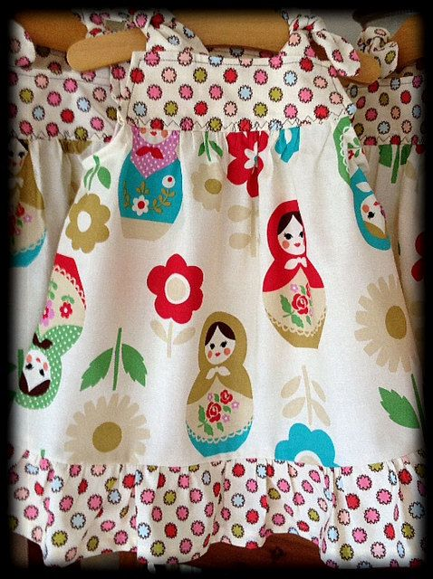 Forget me knot - Matryoshka Russian nesting dolls JUMPER or TUNIC style top. $37.00, via Etsy.