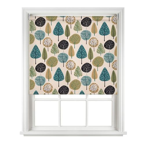 Best Railux Norwegian Wood Teal Roller Blind