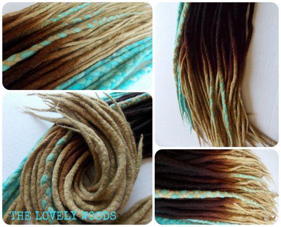 CUSTOM FULL SET // Lovely Locks Felted Wool by TheLovelyWoods, ombre