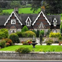 Alpine style cottages in ILam, Derbyshire