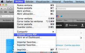 Crear un documento PDF con un hashtag, menciones, tweets...