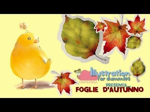 Watercolor free tutorial - How to paint autumn leaves by #Fantasvale  More free tutorials here:  www.youtube.com/Fantasvale    Tutorial acquerello come dipingere foglie autunnali by Fantasvale Illustration for Dummies