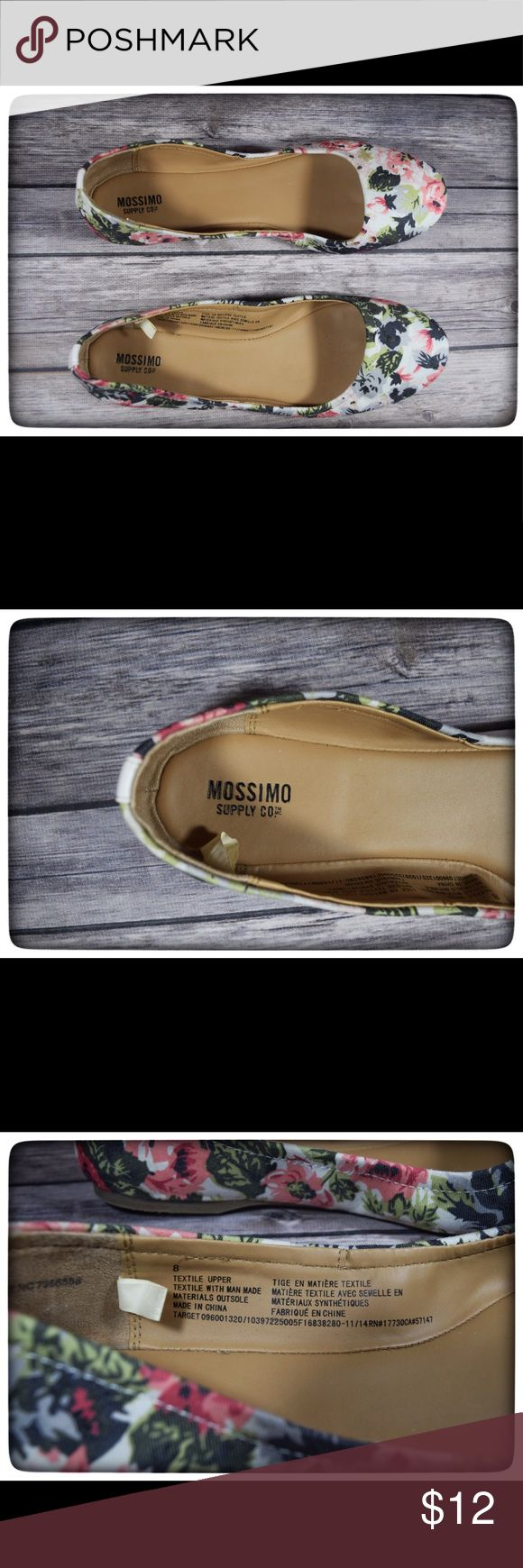 {Mossimo} Floral Ballet Flats {Mossimo} Floral Ballet Flats  Size: 8  Worn only once! Excellent condition! Narrow fit  Textile with man made materials Mossimo Supply Co Shoes Flats & Loafers