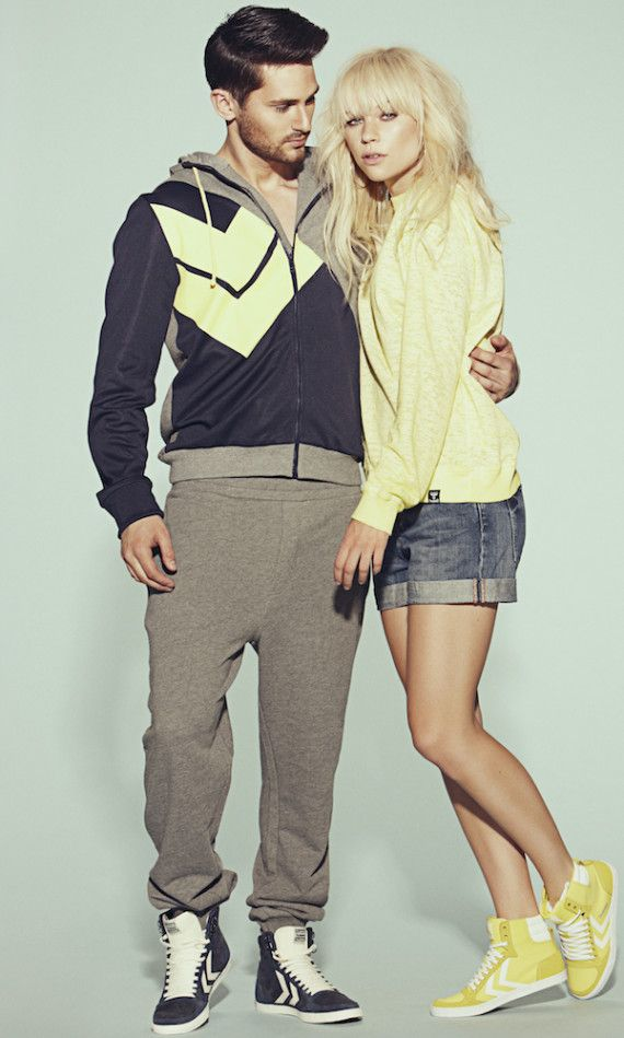 The Danish sportswear and fashion brand Hummel recently launched their new '13 Spring/Summer clothing line. The collection offers a trendy, yet casual outlook with a funky twist; Retro elements, edgy look, futuristic patterns, old-school designs as well as animal-inspired and pixel print t-shirts. The new collection for both men and woman embraces the 90s colors, style and contemporary look.