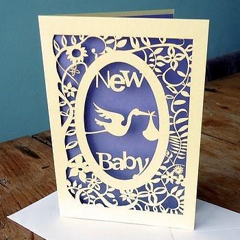 #papercraft #card - New Baby Laser Cut Card  by Pogofandango