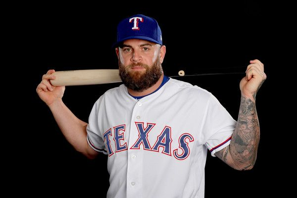Mike Napoli Photos Photos - Mike Napoli #5 of the Texas Rangers poses on Texas Rangers Photo Day during Spring Training on February 22, 2017 in Surprise, Arizona. - Texas Rangers Photo Day