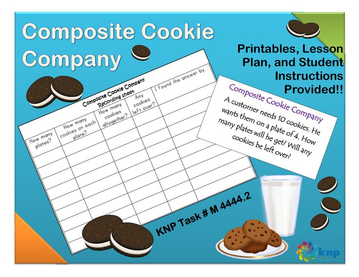 """Composite Cookie Company"" - Use skip or stress counting to find the total number of items when arranged in groups. Supports learning Common Core Standards: 3.OA.7, 3.OA.1, 3.OA.2, 2.NBT.2 [KNP Task # M 4444.2]"