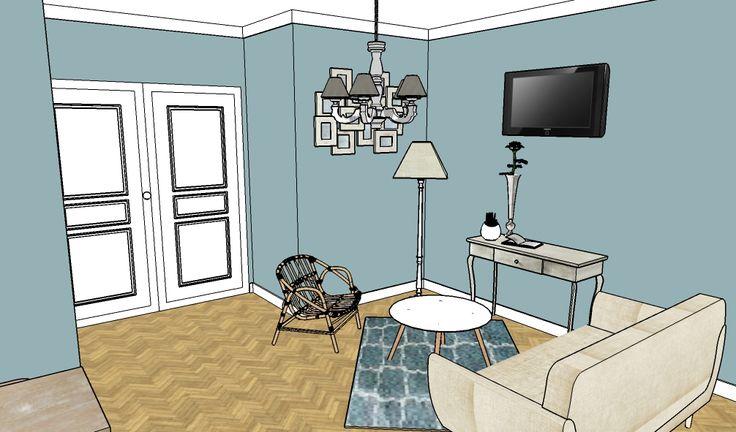 Appartement témoin pour jeunes cadres style Haussemannien