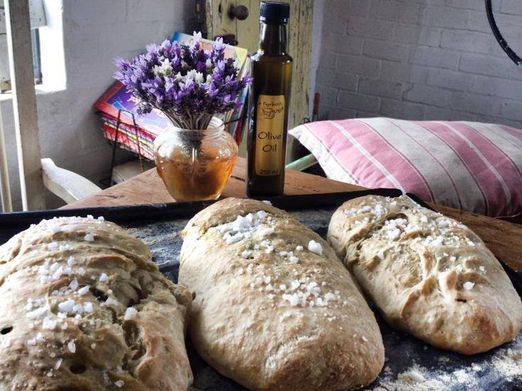 Our homemade olive bread fresh out of the oven, delicious!