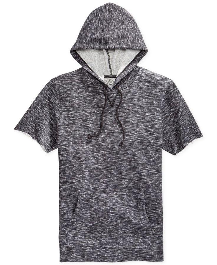 American Rag Marled Short-Sleeve Hoodie - Shop All American Rag - Men - Macy's