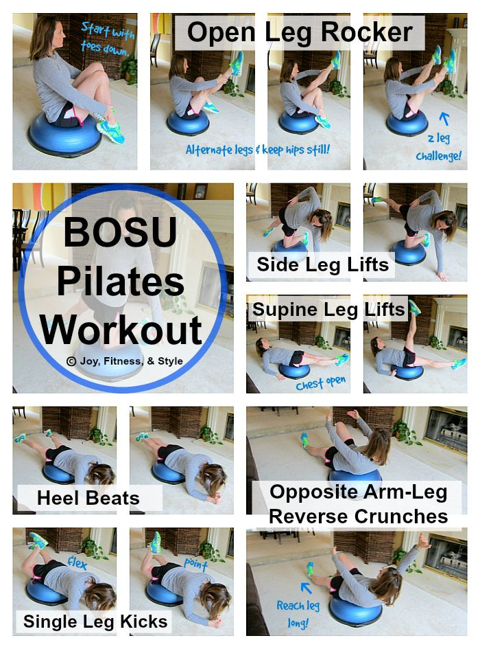 It's great to change up your pilates routine with different pieces of equipment. This will challenge different muscles which will help you break through those fitness plateaus. The BOSU Balan…