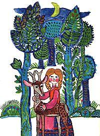 Az őzike, Reich Károly rajza