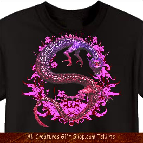 Dragon Tshirt -- Our profits go to animal rescue! Buy it here: http://www.allcreaturesgiftshop.com/purple-dragonessence-dragon-tshirt-p-1080.html
