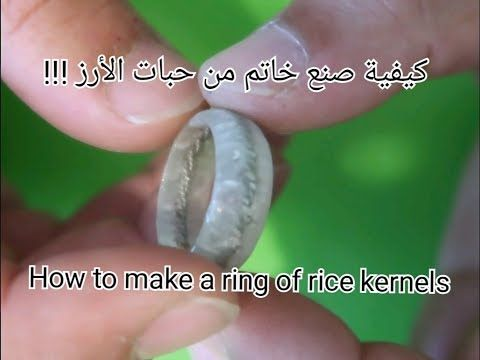 How To Make A Ring For The First Time Of Rice Beads Youtube Rice Bead Rice How To Make