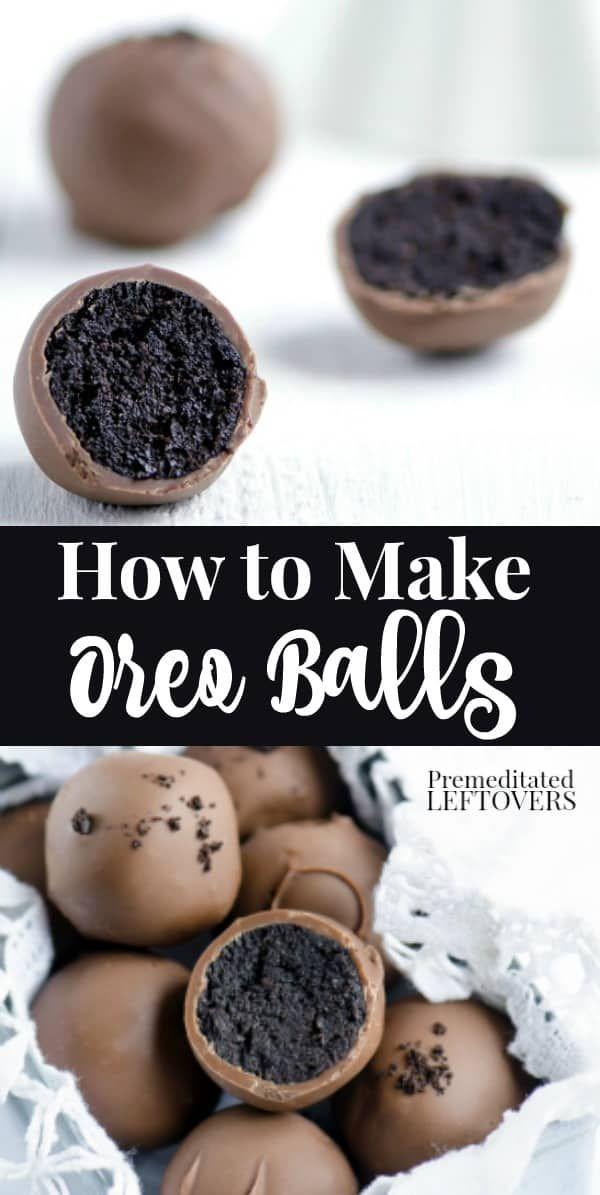 Verwenden Sie dieses Rezept von Oreo Balls, um diese köstlichen Leckereien ohne Backen zuzubereiten! Oreo Trüffel ...