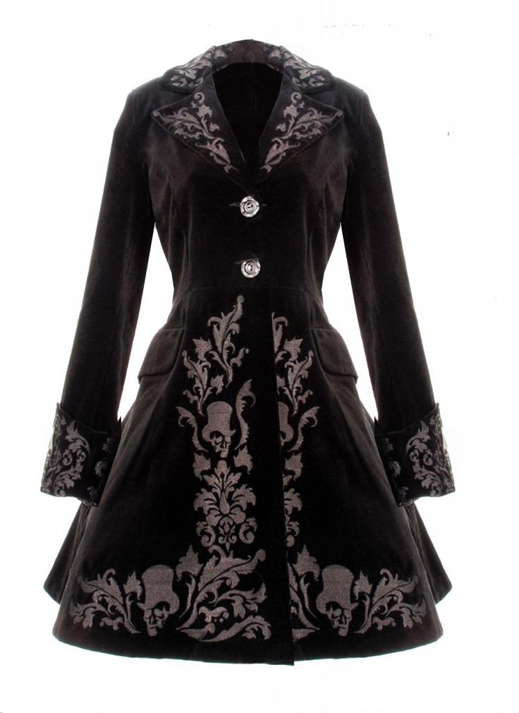 steampunk winter coat | ... BLACK COAT SPIN DOCTOR VINTAGE GOTHIC STEAMPUNK VELVET COAT 2013 NEW