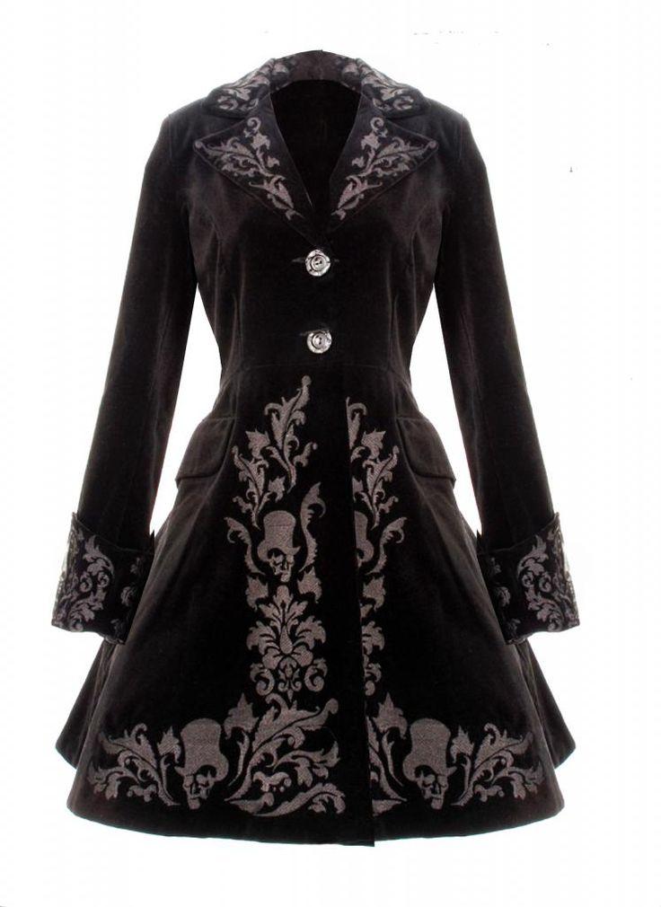 steampunk winter coat   ... BLACK COAT SPIN DOCTOR VINTAGE GOTHIC STEAMPUNK VELVET COAT 2013 NEW
