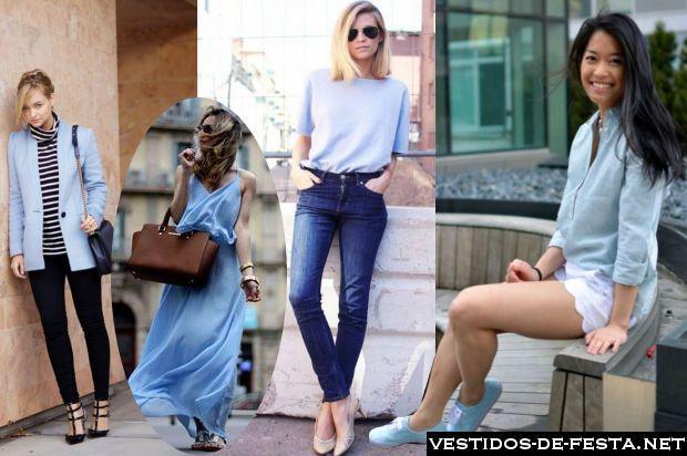Como usar roupa azul bebê no dia a dia