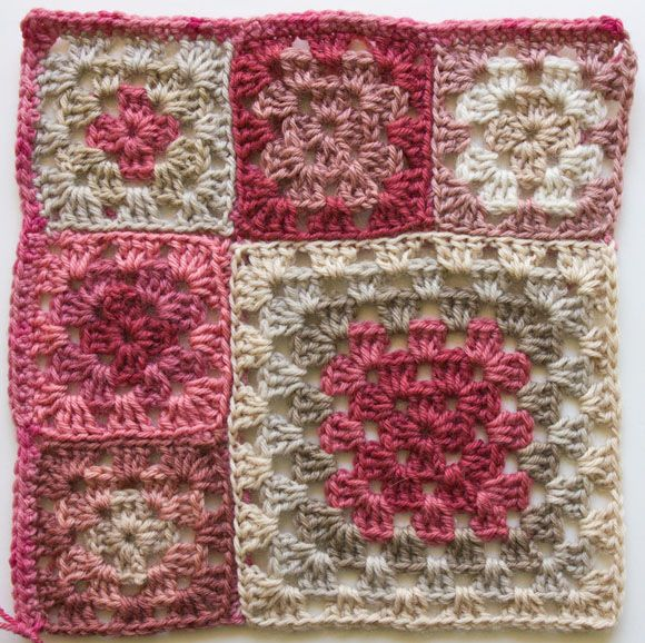 crochet granny square patriotic patterns | Below, see the result when all the squares have their own border: