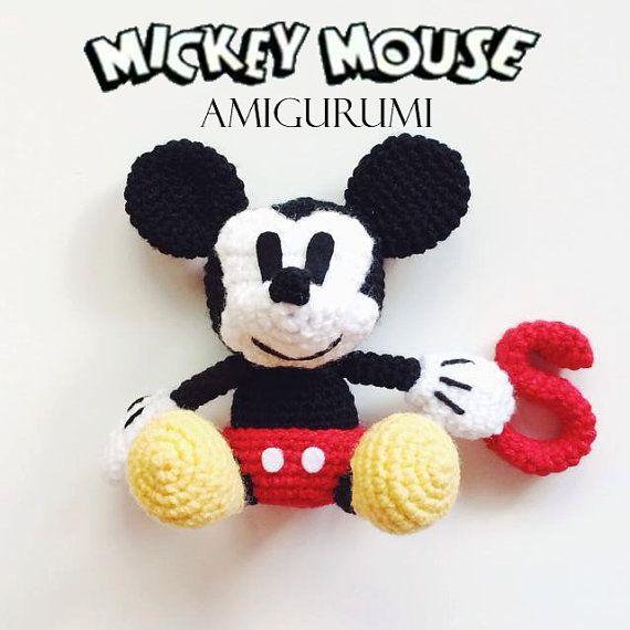 Mickey Mouse Amigurumi Crochet Patrón PDF
