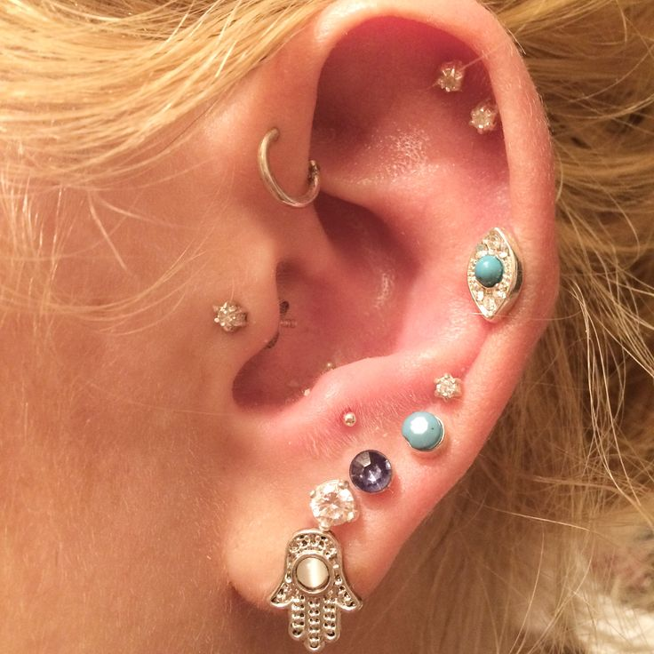 Ear piercing. Tragus. Anti tragus. Helix. Forward helix. Double helix. Lobe. Piercings.