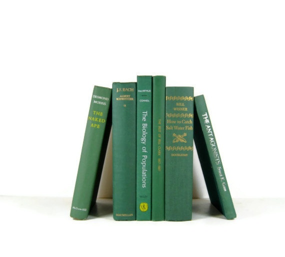 Vintage Emerald Green Decorative Books Photo by