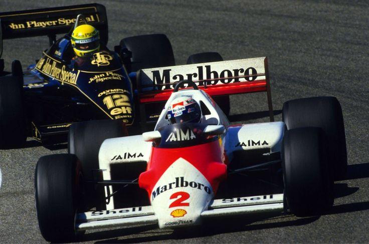 Alain Prost (Mclaren-Tag) & Ayrton Senna (Lotus-Renault) Grand Prix de Hollande - Zanvoorth 1985 - Formula 1 HIGH RES photos (Old and New) Facebook