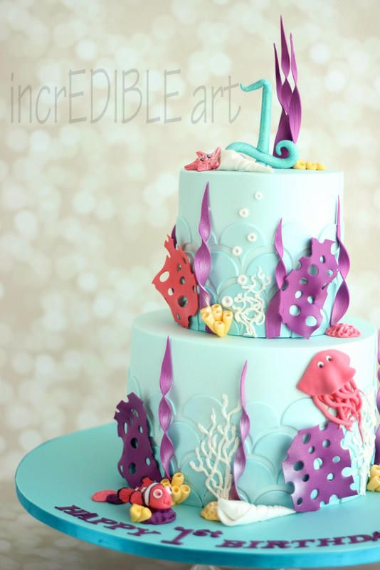 Underwater-Kids Birthday - Cake by Rumana Jaseel
