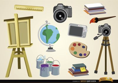 Free vector Visual arts and studies objects #5127