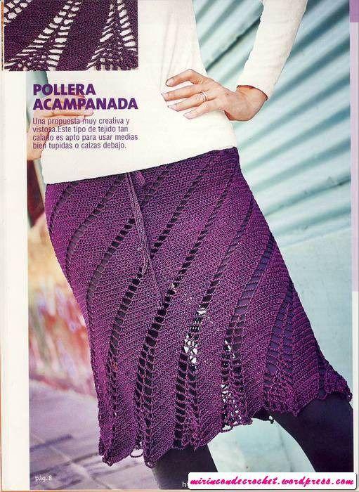 crochet swirl skirt - pic 1 of 3