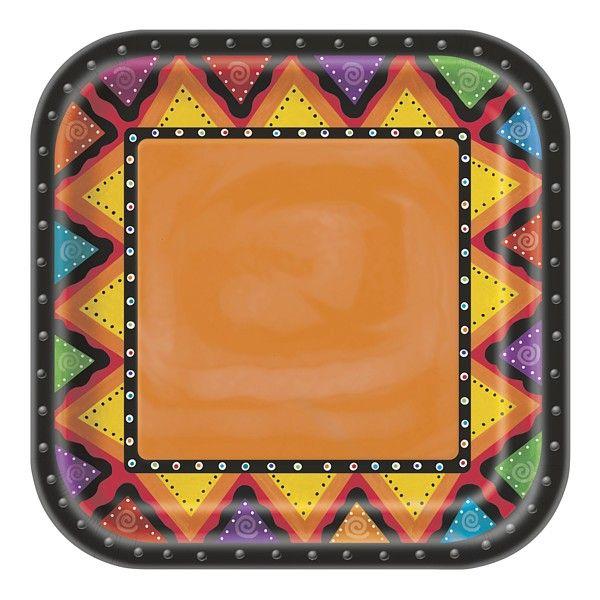 Fiestivity 8 stykk tallerkener - Meksikansk fest | Festmagasinet Standard