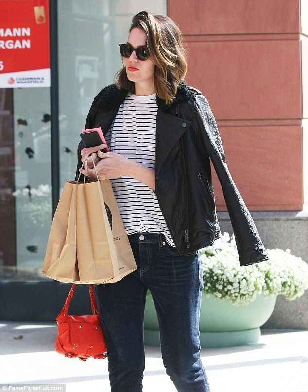 Staying hydrated: Mandy Moore was spotted emerging from Pressed Juicery in Los Angeles Wed...
