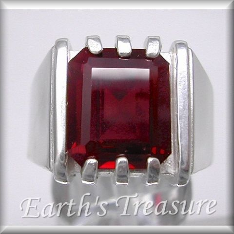 Ruby Mens Ring for Men Ruby Ring  Gifts for by MensRingsandJewelry