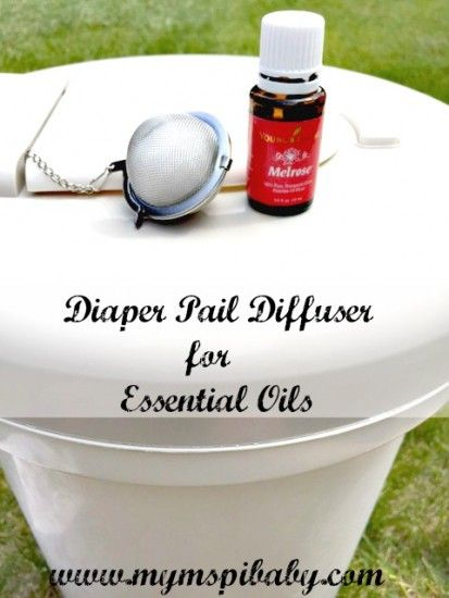 Keep that diaper pail smelling fresh and clean, even with citrus oils by making your own diaper pail diffuser using a tea ball!