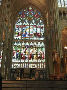 World's largest stained glass window. St. Mary's Cathedral ...