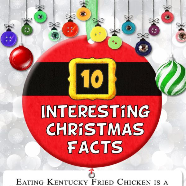 10 Interesting Christmas Facts [by Today I Found Out via #Tipsographic]. More at tipsographic.com