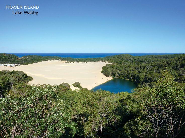 "Moeko at ""Fraser Island"" - lake Wabby - Queesland - Australia 2011 #travel, #voyage, #Australia, #dream, #world #island #fraser #ile #sun #lake"