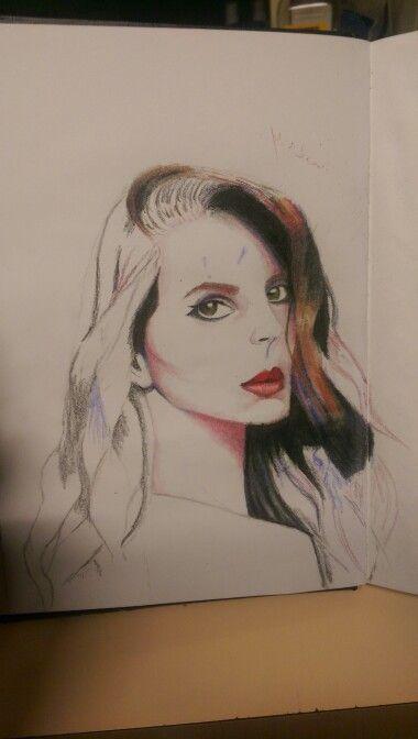 Portrait in Prisma coloured pencils.
