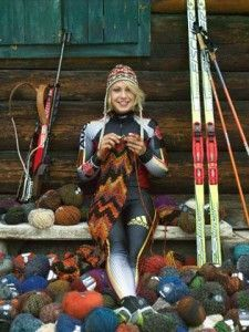 Magdalena Neuner - German professional biathlete. She is the most successful woman of all time at Biathlon World Championships and a two-time Olympic gold medalist - and knitter!