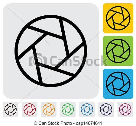 Vector - camera lens shutter blades icon(symbol) outline- simple vector g - stock illustration, royalty free illustrations, stock clip art icon, stock clipart icons, logo, line art, EPS picture, pictures, graphic, graphics, drawing, drawings, vector image, artwork, EPS vector art