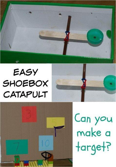 How to make an easy shoebox catapult