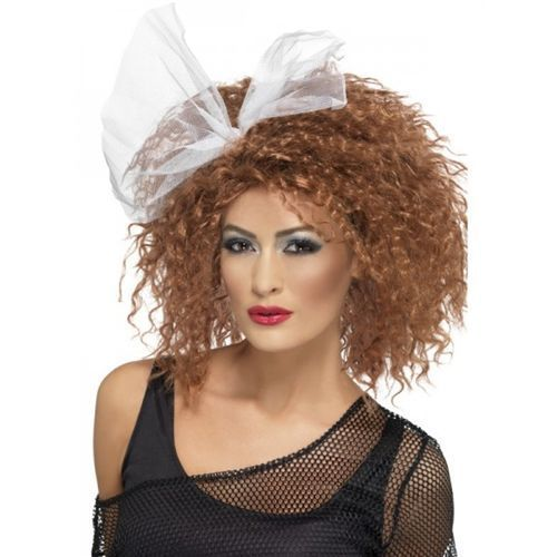 80S-WILD-CHILD-WIG-BROWN-W-BOW-Fancy-Dress-Accessory-Curly-Hair-Style-Retro