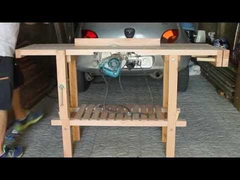 Banco de carpintero - Mesa de trabajo con sierra incluida - YouTube
