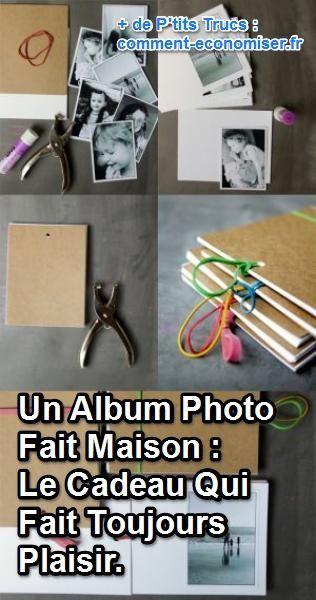 L'album photo, c'est l'idée de cadeau qui fait plaisir à tous les coups. Un cadeau sentimental avec de belles photos de qualité et fait maison. Bref, la solution économique qui fait beaucoup plus plaisir que n'importe quel robot-mixeur pour maman.  Découvrez l'astuce ici : http://www.comment-economiser.fr/monalbumphoto-cadeau-economique.html?utm_content=bufferdd750&utm_medium=social&utm_source=pinterest.com&utm_campaign=buffer